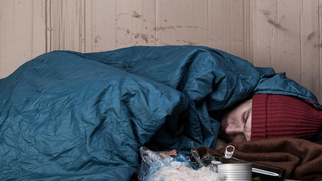 Homelessness in the UK has increased massively over the last five years