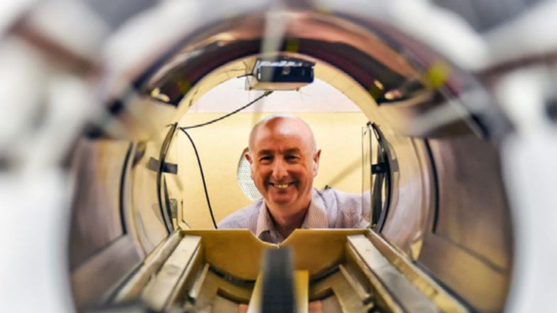 James Hutchison built the world's first full-body MRI scanner at the University of Aberdeen