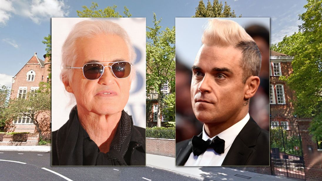 Robbie Williams wins pool plan fight against Led Zeppelin neighbour Jimmy Page