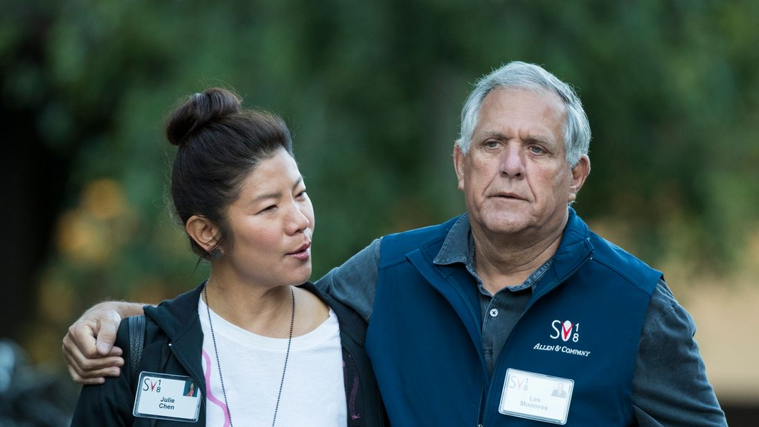 Julie Chen and Leslie 'Les' Moonves