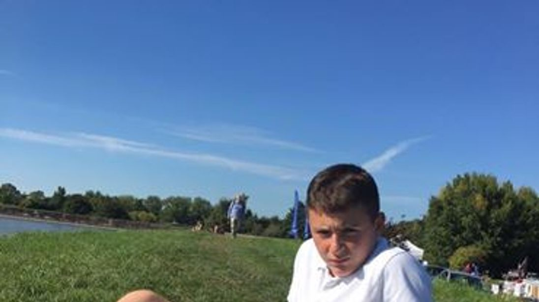 Luca Campanero, 14, died after colliding with an opponent during a football match. Pic: Facebook