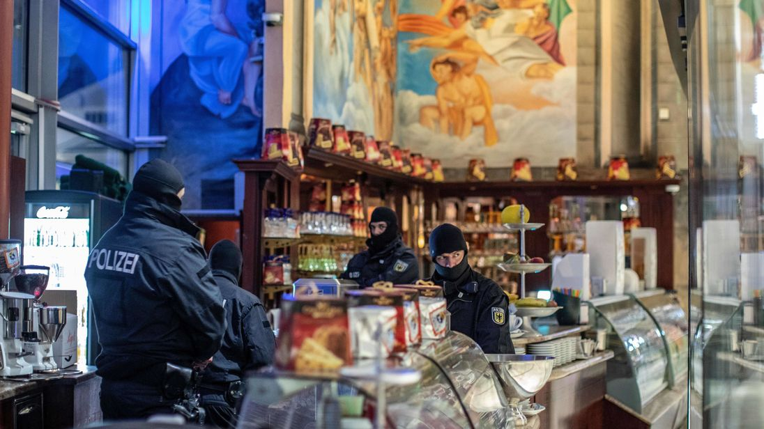 German police raided a cafe in Duisburg as part of the operation