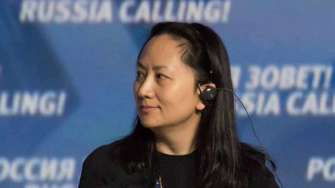 """Meng Wanzhou, Executive Board Director of the Chinese technology giant Huawei, attends a session of the VTB Capital Investment Forum """"Russia Calling!"""" in Moscow, Russia October 2, 2014. Picture taken October 2, 2014"""