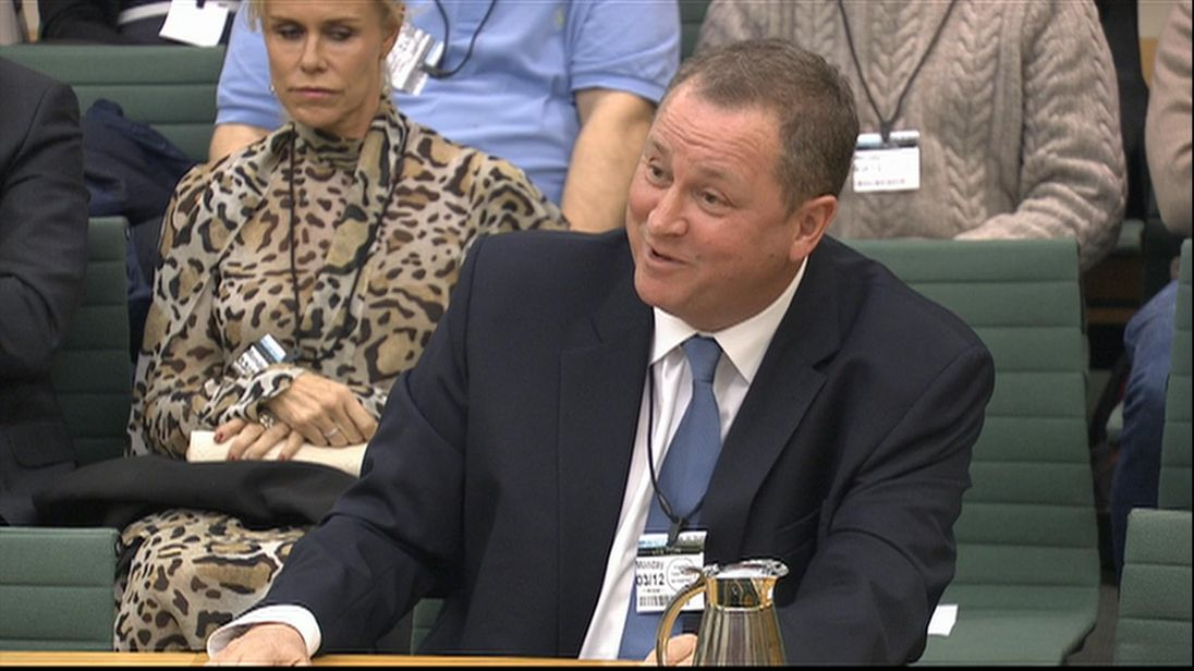 Mike Ashley appears before the housing, communities and local government select committee