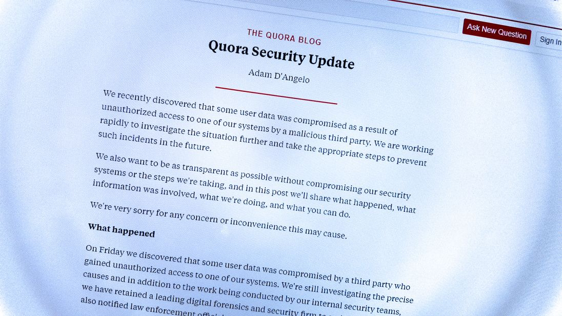 Massive data breach at Quora