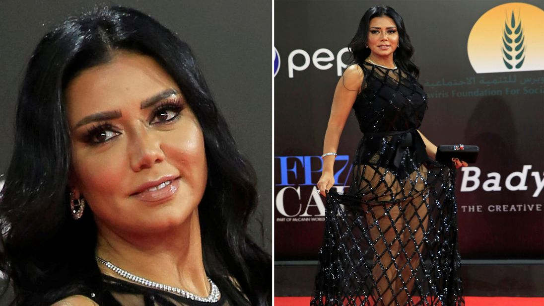 Egyptian film star charged with 'inciting immorality' for wearing see-through dress