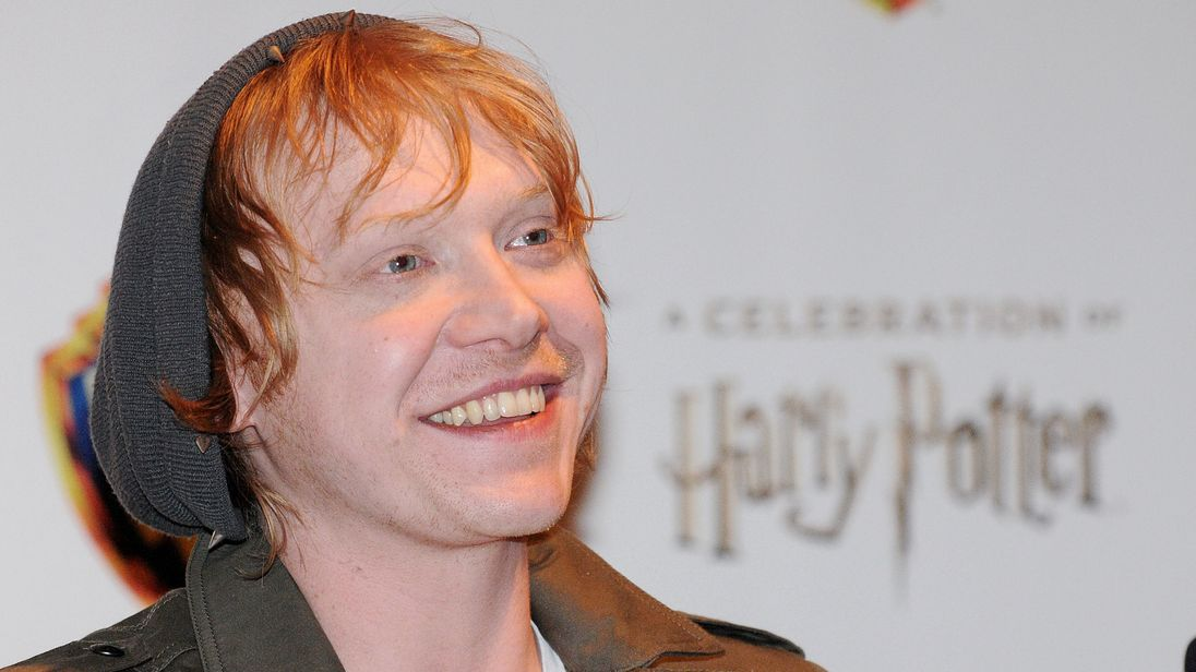 Rupert Grint at a 2016 celebration of Harry Potter