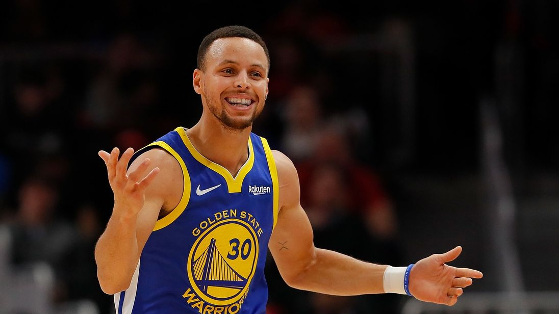 Stephen Curry has been invited to see 'hundreds of pounds of moon rocks' at the Johnson Space Center in Houston