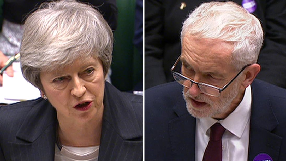 Theresa May and Jeremy Corbyn