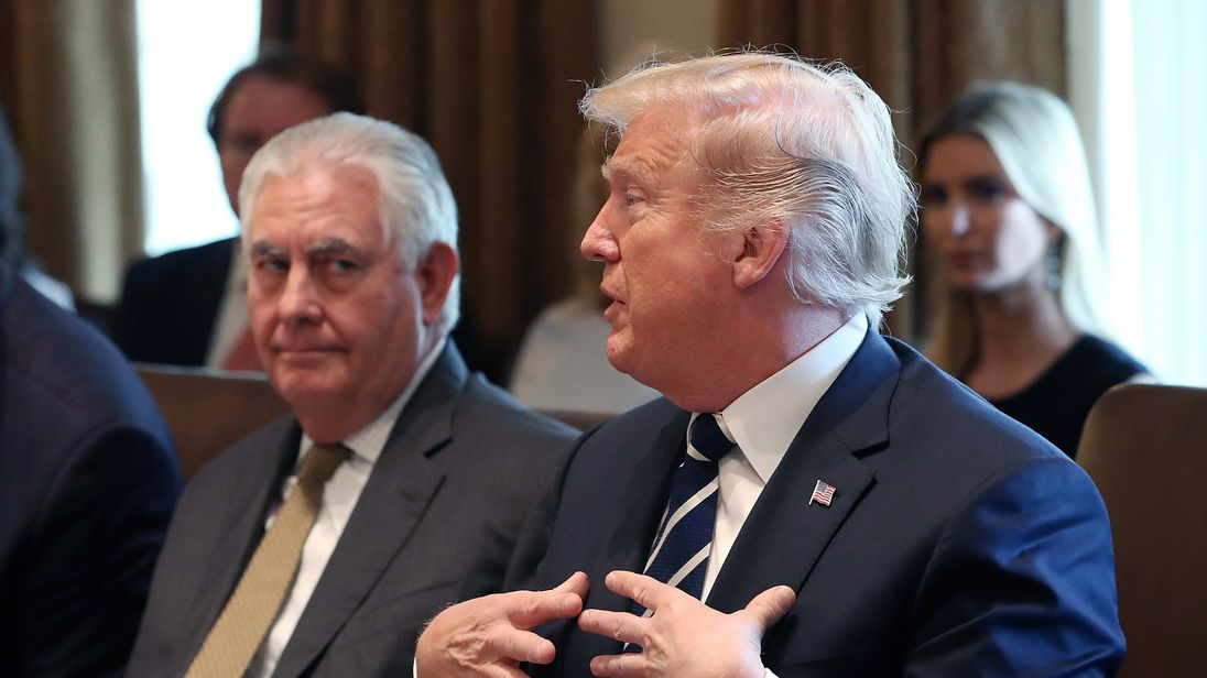 Trump calls Rex Tillerson 'dumb as a rock' and 'lazy as hell'
