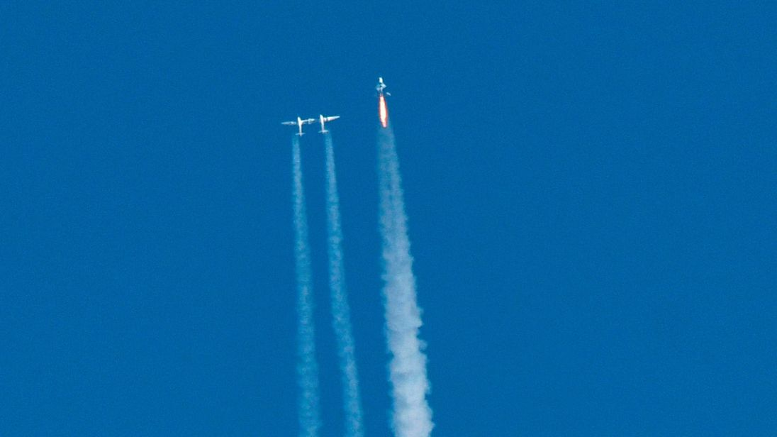 Virgin Galactic reaches space and is one step closer to space tourism""