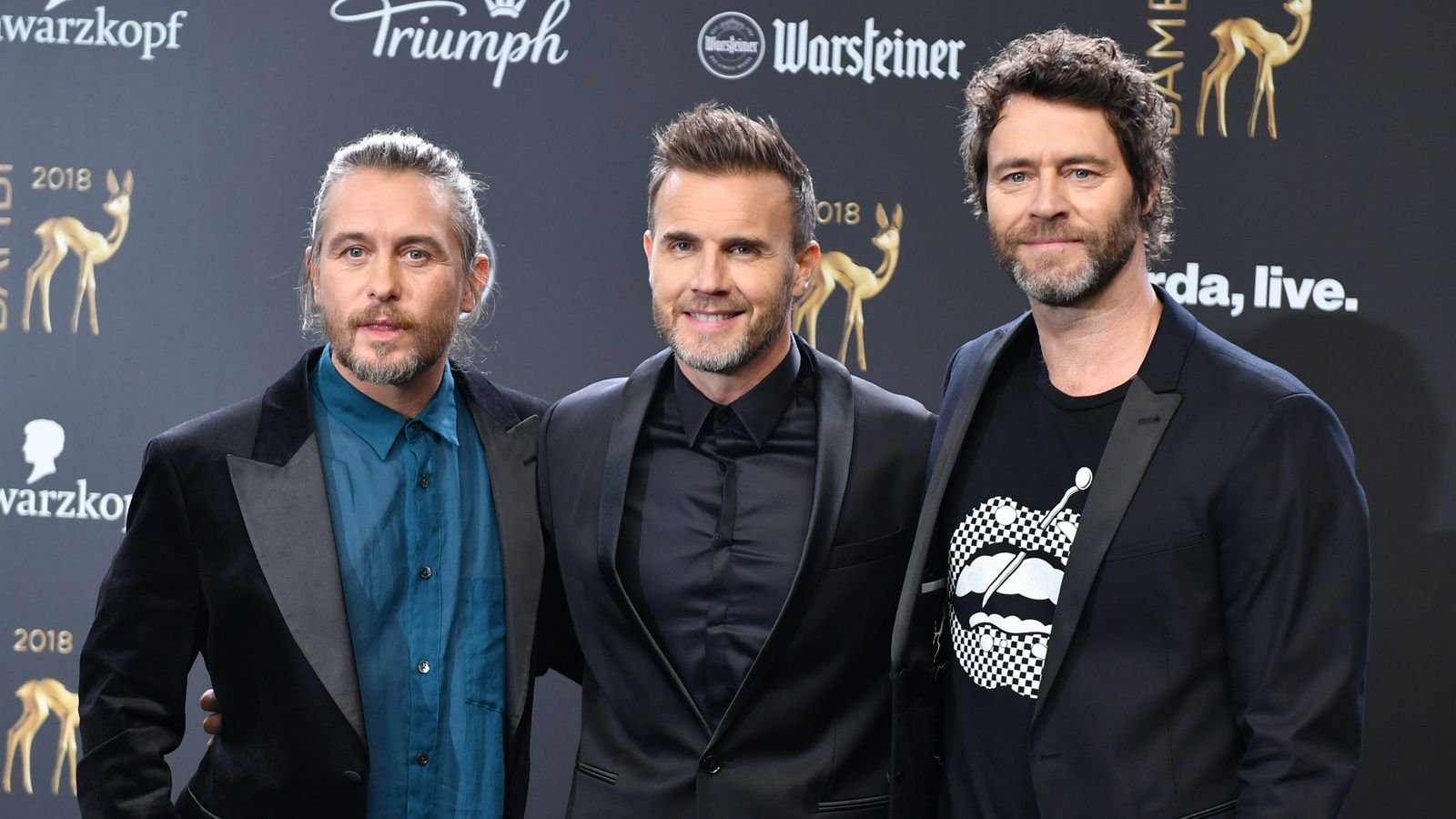 take that cancel tour dates after barlow family illness. Black Bedroom Furniture Sets. Home Design Ideas