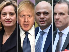 Amber Rudd, Boris Johnson, Sajid Javid, Dominic Raab