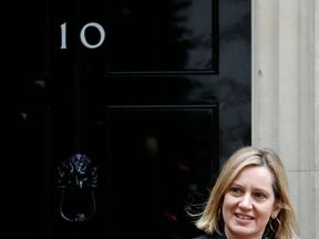 Britain's Work and Pensions Secretary Amber Rudd leaves from 10 Downing Street in central London on December 18, 2018, after attending the weekly meeting of the Cabinet. - British ministers met on Tuesday to intensify plans for leaving the European Union without a deal -- a prospect that is becoming more likely as Prime Minister Theresa May plays for time with just 101 days to go until Brexit.