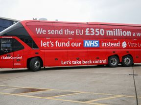 CHRISTCHURCH, DORSET - MAY 12: Journalists wait for the arrival of Boris Johnson and the Vote Leave bus as he visits Reidsteel, a Christchurch company backing the Leave Vote on the 23rd June 2016. on May 12, 2016 in Christchurch, Dorset. The Vote Leave battle bus has been touring the South West of England hoping to persuade voters to back a Brexit from the European Union in the Referendum (Photo by Matt Cardy/Getty Images)