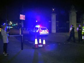 Police on the scene after the attack. Pic: Met Police