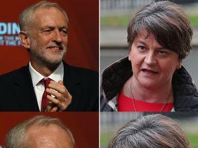 Jeremy Corbyn and Arlene Foster