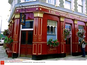 Eastenders set, The Queen Vic pub