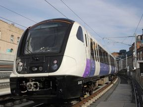 A test train runs on a completed part of the Elizabeth Line. Pic: Crossrail