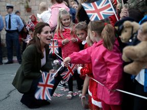 Kate meets some of the families members in Cyprus