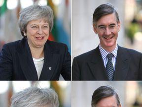 Theresa May and Jacob Rees-Mogg