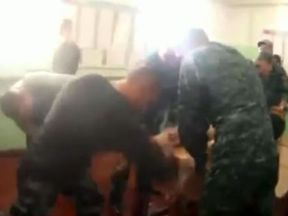 Footage of the incident was leaked by a human rights charity
