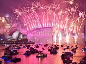 Sydney grabbed headlines with its usual spectacular display over the harbour
