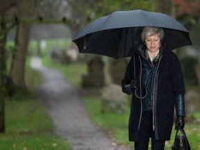 The Prime Minister was in her constituency before Tuesday's vote