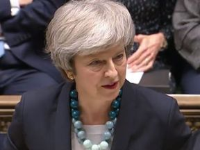 Theresa May addressed the Commons