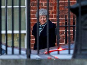 Theresa May leaves 10 Downing Street