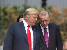 President Erdogan is one of the few to have backed Donald Trump's Syria decision