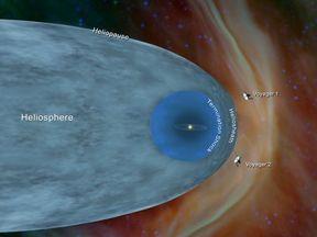 Nasa says the Voyagers are still technically in the solar system