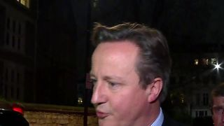 Former PM David Cameron, doorstepped by Sky News