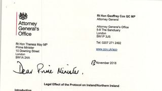 Brexit legal advice document