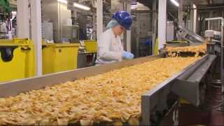 The Kettle Foods production line can process 250 tonnes of potatoes in 24 hours