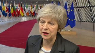 Theresa May said she was not expecting 'immediate breakthrough' and confirmed she won't stand in 2022.