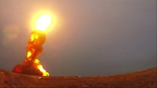 Russia test-launches Moscow defence missiles.