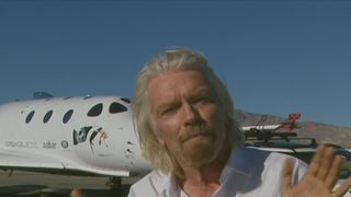 Sir Richard Branson explains how a Virgin Galactic test flight made it into space and back down again