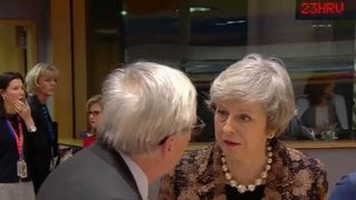 Prime Minister Theresa May and Juncker
