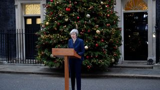 Theresa May addresses the media outside 10 Downing Street