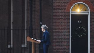 Prime Minister Theresa May making a statement outside 10 Downing Street, London, after the 1922 Committee announced that enough Conservative MPs have requested a vote of confidence in Mrs May to trigger a leadership contest. PRESS ASSOCIATION Photo. Picture date: Wednesday December 12, 2018. See PA story POLITICS Brexit. Photo credit should read: Kirsty O'Connor/PA Wire