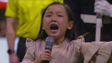 Seven-year-old sings national anthem