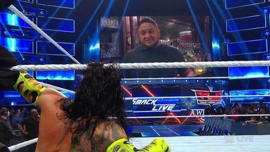 Samoa Joe taunts Jeff Hardy