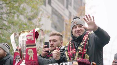 Atlanta celebrate on MLS victory parade