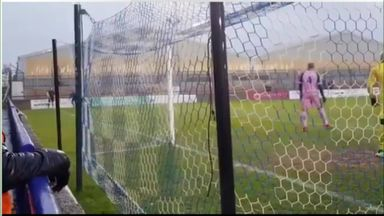 Crazy goalmouth scramble in FA Trophy