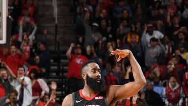 Harden posts 50-point triple-double