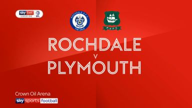 Rochdale 1-2 Plymouth