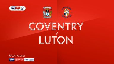 Coventry 1-2 Luton