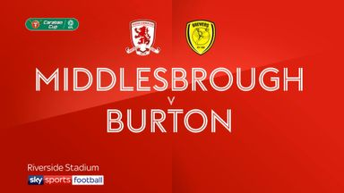 Middlesbrough 0-1 Burton
