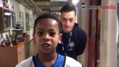 Ozil's Christmas surprise for schoolboy